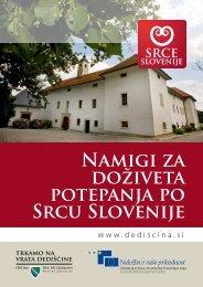 Namigi za doživeta potepanja po Srcu Slovenije - Razvojni center ...