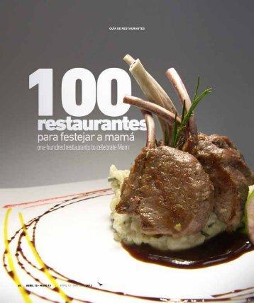 100 restaurantes para festejar a mamá - Abordo.com.ec