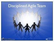 The Disciplined Agile Team - ASPE