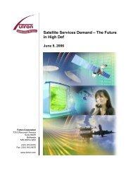 Satellite Services Demand - Futron Corporation