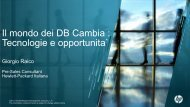Il mondo dei DB Cambia : Tecnologie e opportunita` - Corriere delle ...
