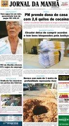 Capa do jornal em PDF - Jornal da Manhã
