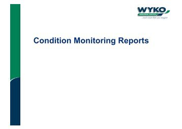 Condition Monitoring Reports Explained - 1.46MB - Eriks UK