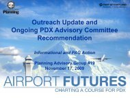 Ongoing PDX Advisory Committee - PDX Airport Futures