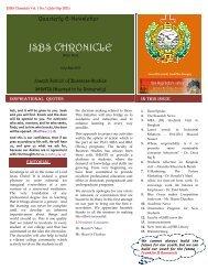 e-News Letter - JSBS Chronicle - Shiats.edu.in