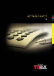 listenpreisliste - Tiba