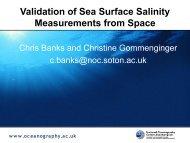 Validation of Sea Surface Salinity Measurements from ... - Euro-Argo