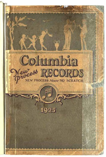 Columbia Records Catalogue 1924 - British Library - Sounds