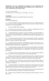 règlement sur les conditions d'exercice d'une opération ... - Finances