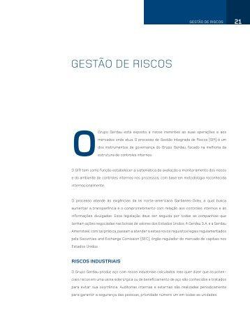 Gestão de risCos - Gerdau