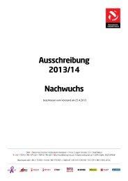 Ausschreibung Nachwuchs 2013/14 - Oberösterreichischer ...