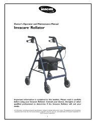 Invacare Rollator User manual