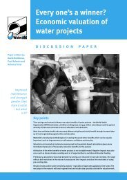 Everyone's a winner? Economic valuation of water projects - WaterAid