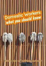 Domestic Workers, what you should know - Department of Labour