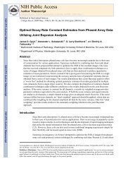 Optimal Decay Rate Constant Estimates from Phased Array Data ...