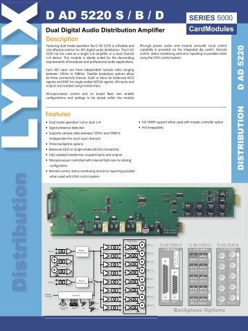 Dual Digital Audio Distribution Amplifier - LYNX Technik AG