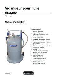 Vidangeur pour huile usagée - Pressol