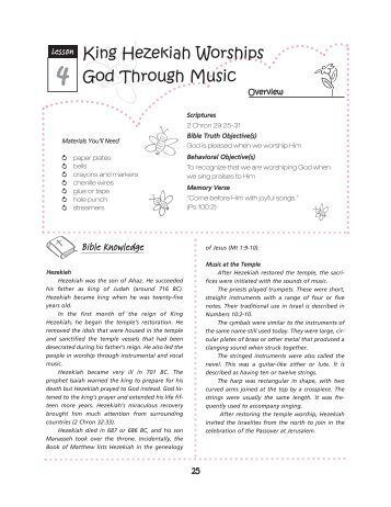 King Hezekiah Worships God Through Music - True Jesus Church