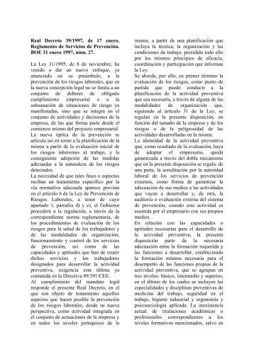Real Decreto 39/1997, de 17 enero, Reglamento de ... - Amat