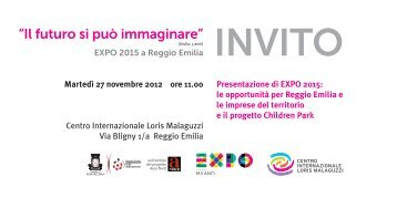 Scarica l'invito - Reggio Children