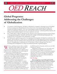 Global Programs: Addressing the Challenges of ... - World Bank