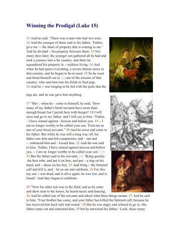 Winning the Prodigal (Luke 15)
