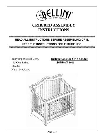 Cribbed Assembly Instructions Bellini