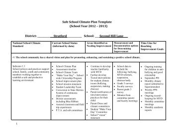2012-2013 Safe School Climate Plan - Second Hill Lane Elementary ...