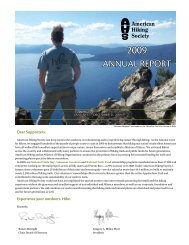 2009 Annual Report - American Hiking Society