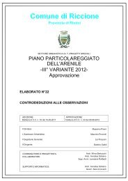 CONTRODEDUZIONI ALLE OSSERVAZIONI.pdf - Comune di ...