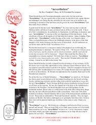 November/December 2004 - The American Association of Lutheran ...