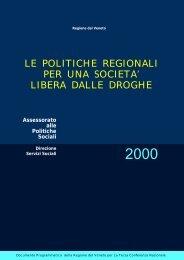 le politiche della regione veneto per una società libera ... - Dronet