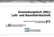 Anwendungsfach (BSc) Luft- und Raumfahrttechnik