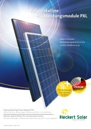 Polykristalline Hochleistungsmodule PXL - Vario green energy ...