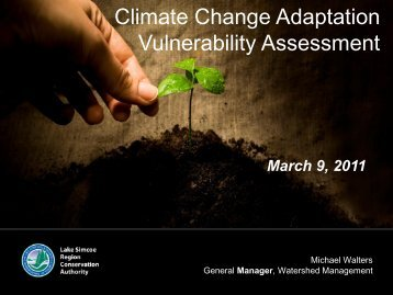Climate Change Adaptation Vulnerability Assessment