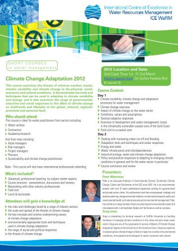 Climate Change Adaptation 2012