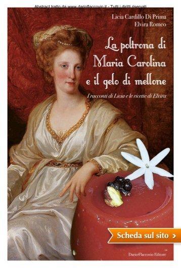 La poltrona di Maria Carolina e il gelo di mellone - Dario Flaccovio ...