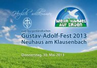 Gustav-Adolf-Fest 2013 - Evangelische Pfarrgemeinde AB Neuhaus ...