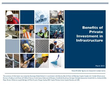 Private Investment in Infrastructure March 10 - Castalia