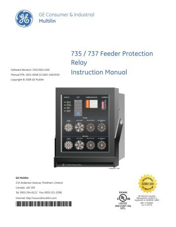 mif ii provides a new level of protection for ge digital energy rh yumpu com multilin miv ii manual multilin mif ii digital feeder relay manual