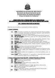 Orientações Formulário UPS - Secretaria de Desenvolvimento ...