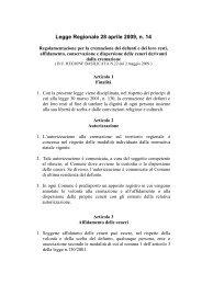 Legge Regionale 28 aprile 2009, n. 14 Regolamentazione per la ...
