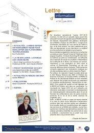 Lettre d'information n°10 - Printemps 2012 - Maison des Sciences ...