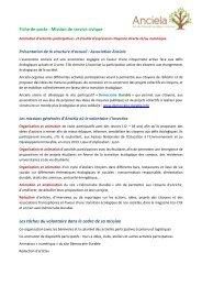 Fiche de poste : Mission de service civique Les ... - Rhone Solidaires