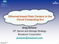 Ethernet-based Data Centers in the Cloud Computing Era