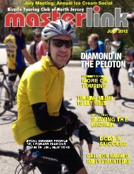 president's message - the Bicycle Touring Club of North Jersey