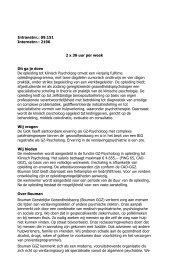 09.151 GZ-Psycholoog in opleiding tot Klinisch ... - RINO Groep
