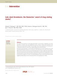 Late stent thrombosis: the Damocles' sword of drug ... - Centro CECI