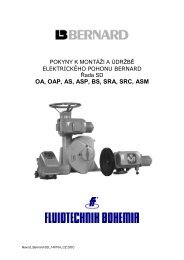 Elektrické pohony BERNARD - řada SD - FLUIDTECHNIK BOHEMIA ...