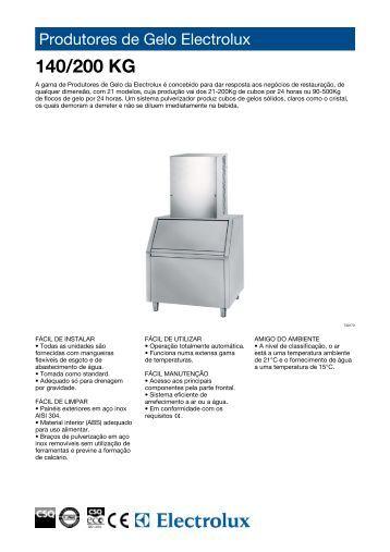 Produtores de Gelo Electrolux